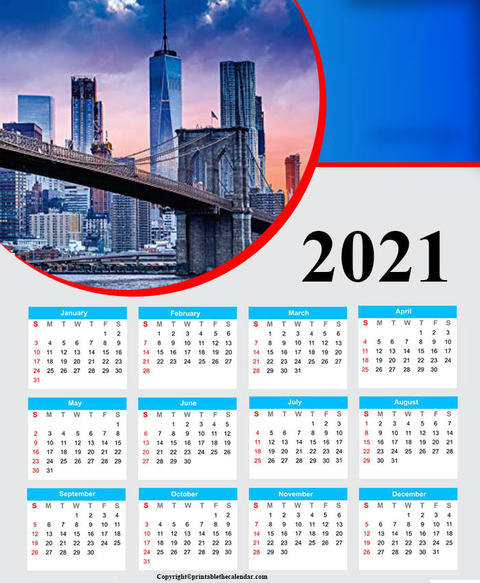 Free Calendar 2021 Printable For Kids