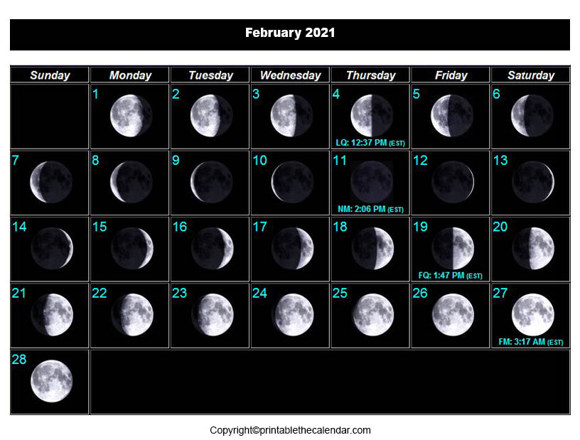 When is the Next Full Moon in February 2021