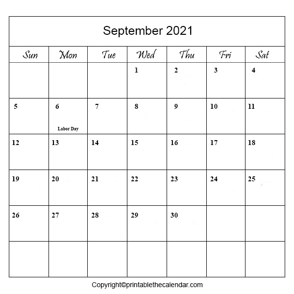 2021 Holidays in September