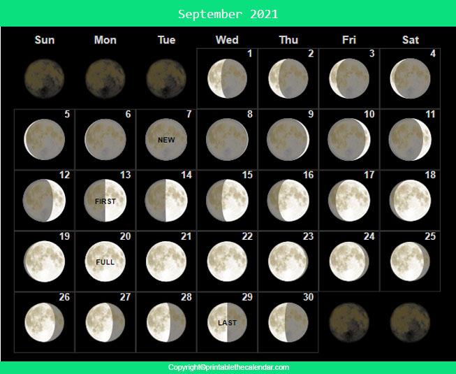 September 2021 Full Moon Schedule
