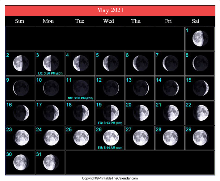 May Full Moon Schedule 2021